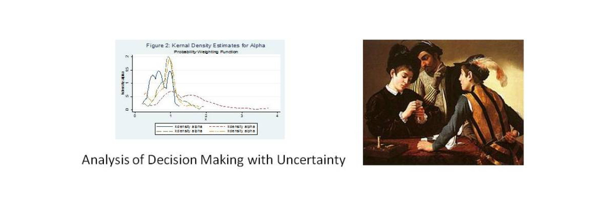 Analysis of decision making with uncertainty